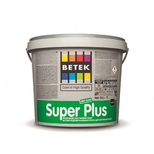 BETEK SUPER PLUS - матовая краска для внутренних работ - 7,5л