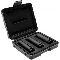 """HOEGERT Набор ударных глубоких шестигранных головок 1/2"""", 17, 19, 21 мм, в кейсе, CrMo"""