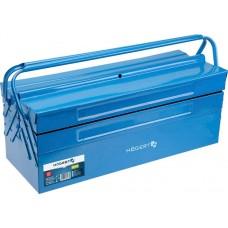 HOEGERT Ящик для инструментов металлический 5 отделений 43 х 20 х 20 см