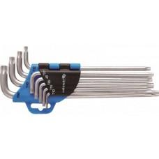HOEGERT Набор Г-образных удлиненных ключей TORX, Т10-Т50, 9 шт.