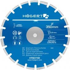 HOEGERT Диск отрезной алмазный по асфальту и бетону 350 х 3,2 х 25,4 мм