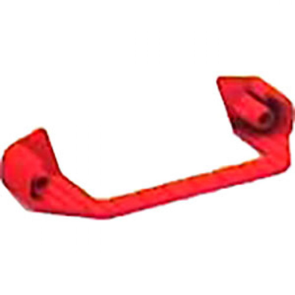 Заглушка ступени 80*50 в сборе; комплект правая и левая, красный пластик, упак. 3910003 Новая высота