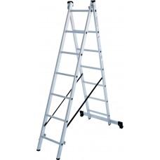 Лестница алюминиевая двухсекционная 7 ступеней NV 1220 артикул 1220207