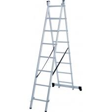 Лестница алюминиевая двухсекционная 8 ступеней NV 1220 артикул 1220208