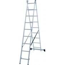 Лестница алюминиевая двухсекционная 9 ступеней NV 1220 артикул 1220209