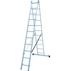 Лестница алюминиевая двухсекционная 11 ступеней NV 1220 артикул 1220211