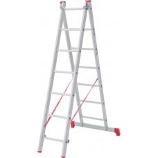 Лестница алюминиевая двухсекционная 7 ступеней NV 222 артикул 2220207