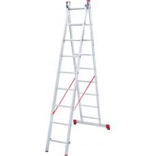 Лестница алюминиевая двухсекционная 9 ступеней NV 222 артикул 2220209