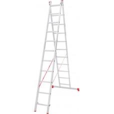 Лестница алюминиевая двухсекционная 11 ступеней NV 222 артикул 2220211