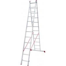 Лестница алюминиевая двухсекционная 12 ступеней NV 222 артикул 2220212