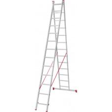 Лестница алюминиевая двухсекционная 13 ступеней NV 222 артикул 2220213