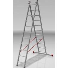 Лестница алюминиевая двухсекционная индустриальная 11*2 ступеней NV 522 артикул 5220211