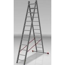 Лестница алюминиевая двухсекционная индустриальная 13*2 ступеней NV 522 артикул 5220213