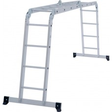 Четырёхсекционная алюминиевая многофункциональная лестница трансформер NV 132 артикул 1320404