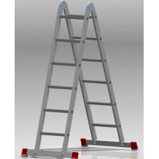 Лестница шарнирная 2x6 ступеней NV 331 артикул 3310206 Новая высота