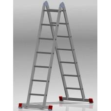 Лестница шарнирная 2x7 ступеней NV 331 артикул 3310207 Новая высота