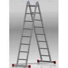 Лестница шарнирная 2x8 ступеней NV 331 артикул 3310208 Новая высота