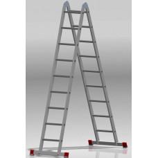 Лестница шарнирная 2x9 ступеней NV 331 артикул 3310209 Новая высота