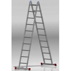 Лестница шарнирная 2x10 ступеней NV 331 артикул 3310210 Новая высота