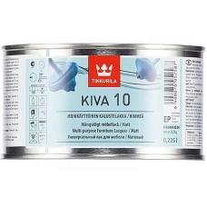 Tikkurila Kiva 10  - матовый акрилатный лак для дерева - 0,225л