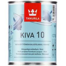 Tikkurila Kiva 10  - матовый акрилатный лак для дерева - 0,9л
