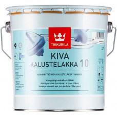 Tikkurila Kiva 10  - матовый акрилатный лак для дерева - 9,0л