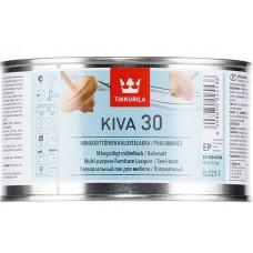 Tikkurila Kiva 30  - полуматовый акрилатный лак для дерева - 0,225л
