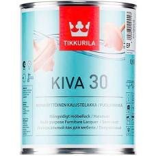 Tikkurila Kiva 30  - полуматовый акрилатный лак для дерева - 0,9л