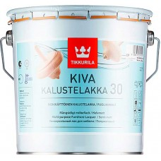 Tikkurila Kiva 30  - полуматовый акрилатный лак для дерева - 2,7л
