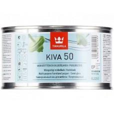 Tikkurila Kiva 50  - полуглянцевый акрилатный лак для дерева - 0,225л