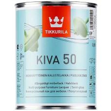 Tikkurila Kiva 50  - полуглянцевый акрилатный лак для дерева - 0,9л