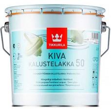 Tikkurila Kiva 50  - полуглянцевый акрилатный лак для дерева - 2,7л
