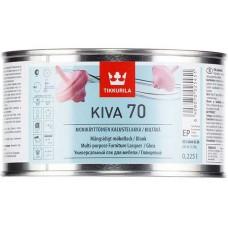 Tikkurila Kiva 70  - глянцевый акрилатный лак для дерева - 0.225л