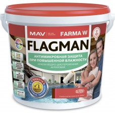 MAV FLAGMAN FARMA W - антимикробная краска - 5л (5,5 кг)
