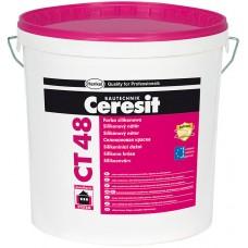 Ceresit CT 48 - белая силиконовая краска для наружных и внутренних работ - 15л