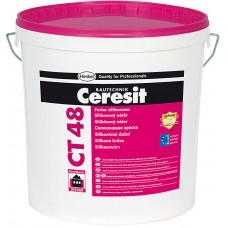 Ceresit CT 48 - силиконовая краска для наружных и внутренних работ (бесцветная база) - 15л
