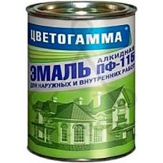 Цветогамма ПФ-115 ТУ - эмаль по металлу и древесине (черная) - 1,8кг.