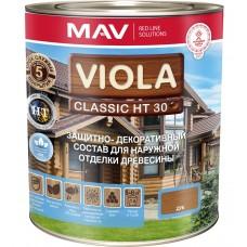 VIOLA Classic HT 30  декоративно-защитный состав для дерева - 10л (8,0 кг) (Морёный дуб)