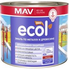 MAV ECOL ПФ-115 - эмаль по металлу и древесине (жёлтый) - 2,4л (2,0 кг)