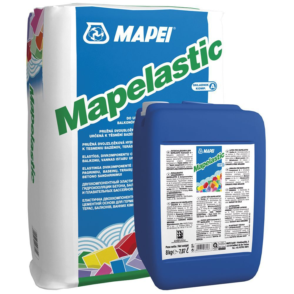 MAPEI Mapelastic - эластичная гидроизоляция (комплект 24,0+8,0 кг)