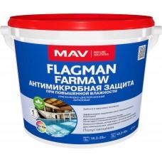 MAV FLAGMAN FARMA W - антимикробная краска - 5л (5,5 кг)