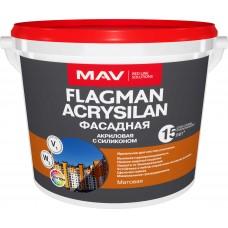 MAV FLAGMAN ACRYSILAN - силиконовая фасадная краска - 11л (14,0 кг)