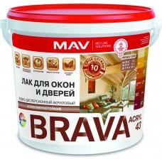 MAV BRAVA ACRYL 43 - акриловый лак для дерева (полуматовый) -  1л (1,0 кг)