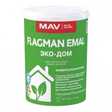 MAV FLAGMAN EMAL ЭКО-ДОМ - алкидно-акриловая краска - 1л (1,2 кг)