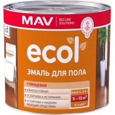 MAV ECOL ПФ-266 - эмаль для пола (жёлто-коричневая) - 2,4л (2,0 кг)