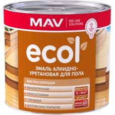 MAV ECOL - алкидно-уретановая эмаль для пола - 2,4л (2,0 кг)