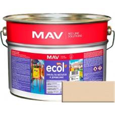 MAV ECOL ПФ-115 - эмаль по металлу и древесине, Бежевая - 10,0 л (11,0 кг)