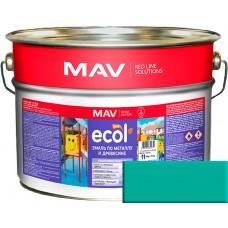 MAV ECOL ПФ-115 - эмаль по металлу и древесине, Бирюзовая - 10,0 л (11,0 кг)