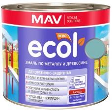MAV ECOL ПФ-115 - эмаль по металлу и древесине, Аквамарин - 1,0 л (0,9 кг)