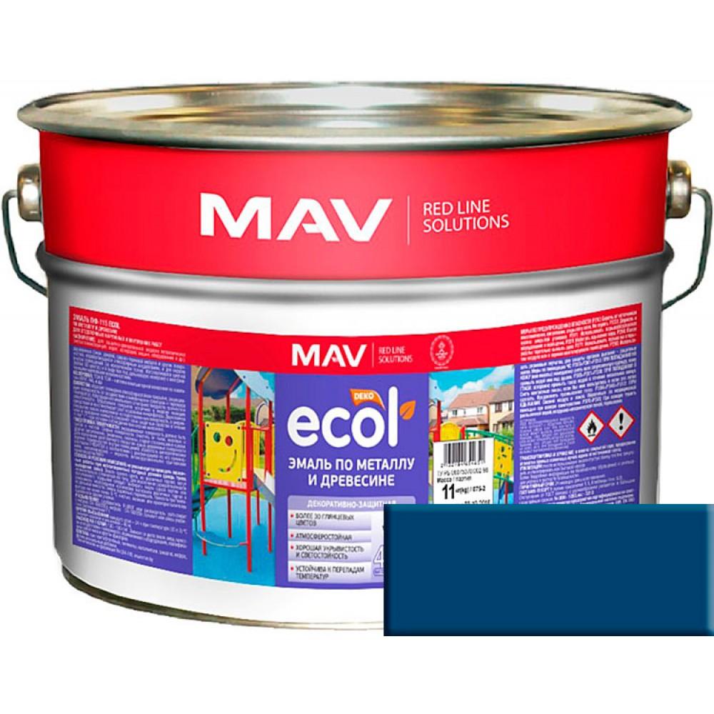 MAV ECOL ПФ-115 - эмаль по металлу и древесине, Норвежская синь - 20,0 л (20,0 кг)